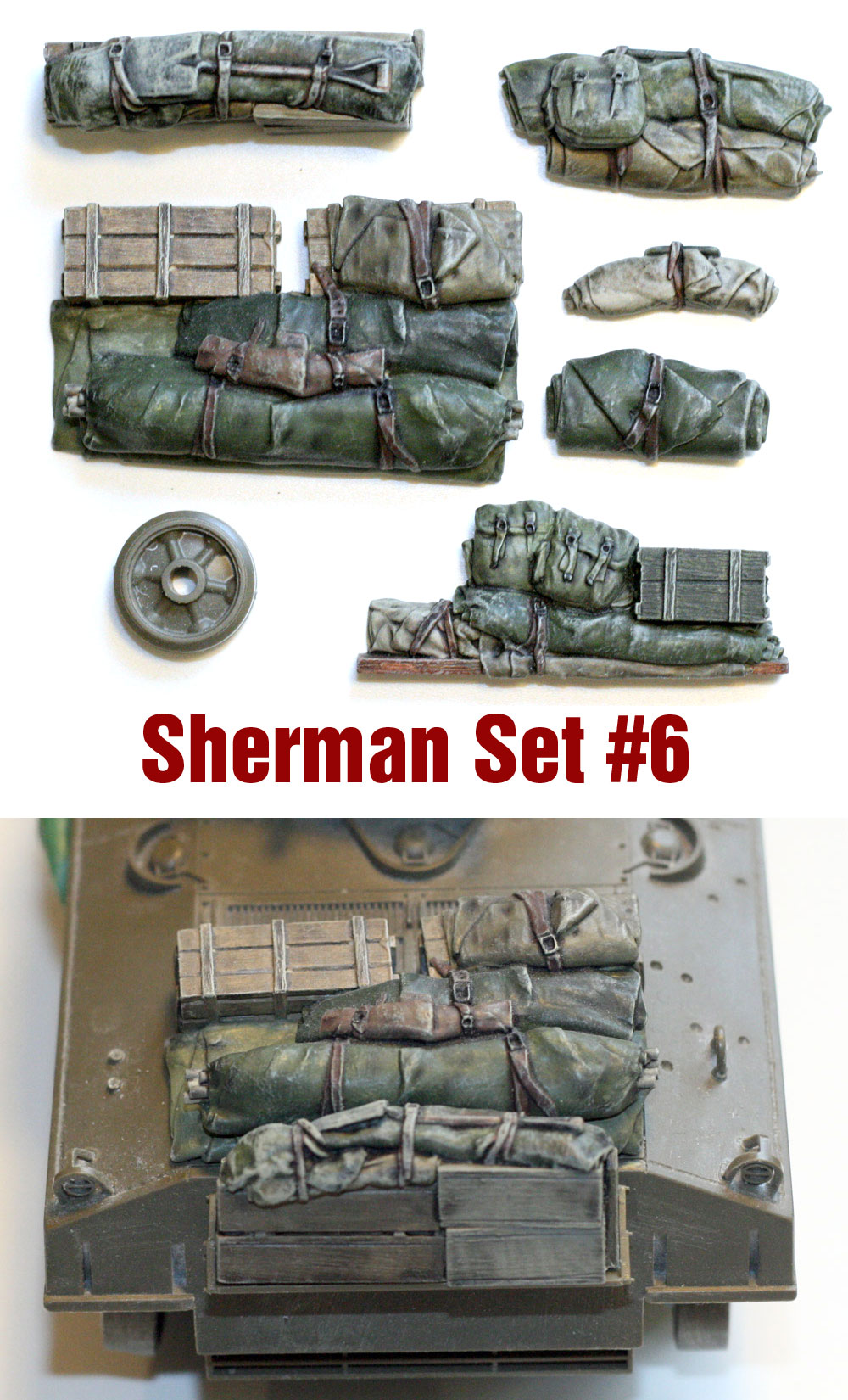 Resin Stowage 1//35 Scale Sherman Engine Deck Set #1 Value Gear Details