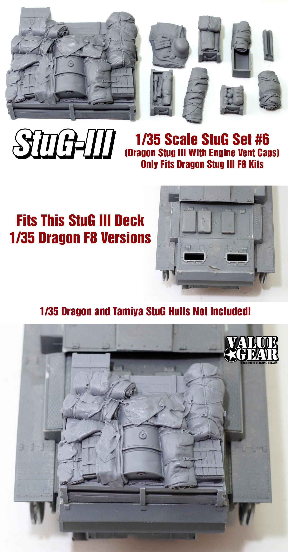Fits All 1//35 Dragon StuG III C//E Kit StuG Stowage Set #2
